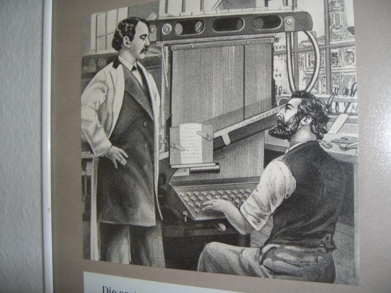 Ottmar Mergenthaler an der Linotype