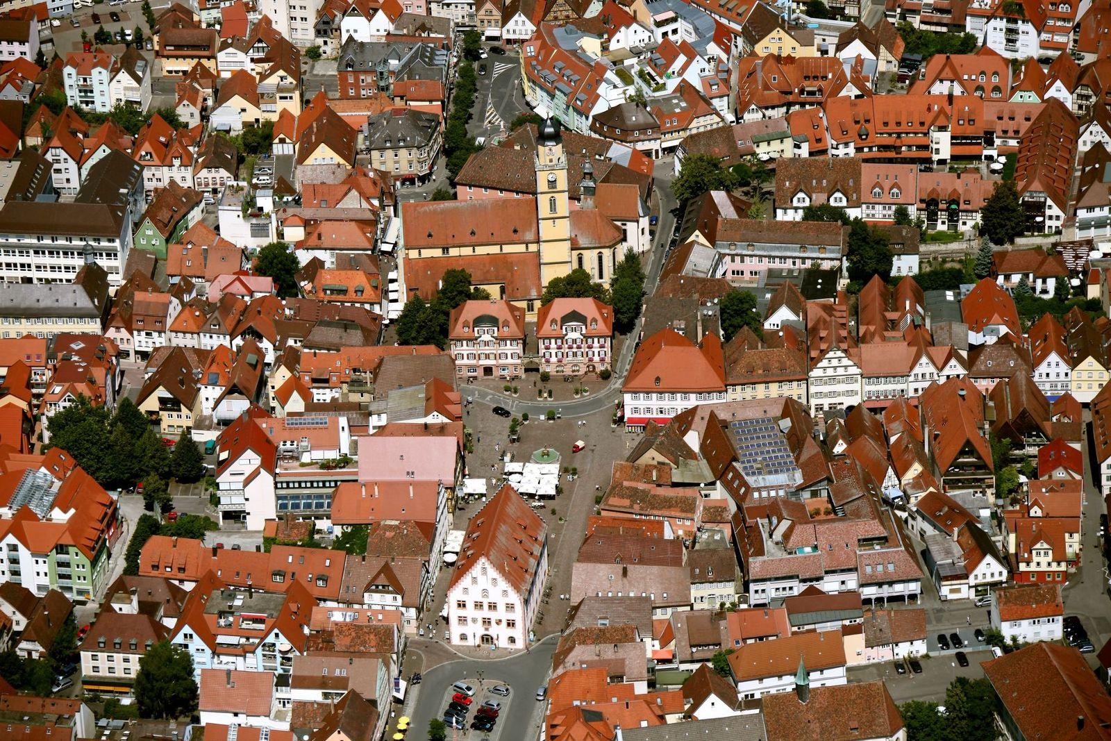 Luftbild von Bad Mergentheim