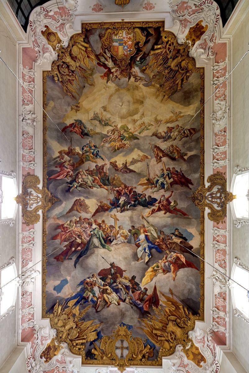 Deckenfresko von Nikolaus Stuber in der Schlosskirche, 1736 ©Holger Schmitt